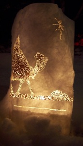 Camel Luminaria at LDS Temple Square, photo by Flinders Family
