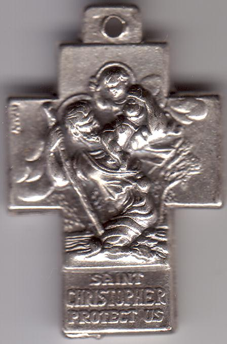 Christian Cross with St. ChristopherImage from Wikimedia Commons