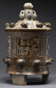 Mayan Lidded VesselImage from Wikimedia Commons