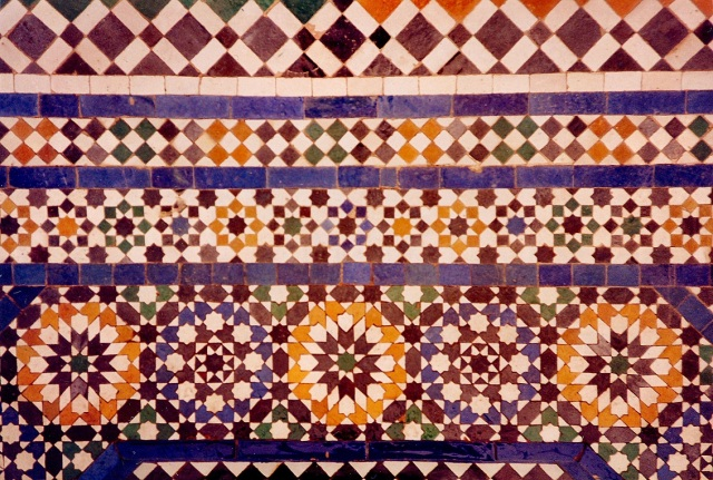 Ceramic Tile Tessellations in MarrakechImage from Wikimedia Commons