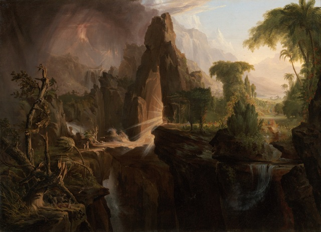 Expulsion from the Garden of Eden, Thomas ColeImage from Wikimedia Commons