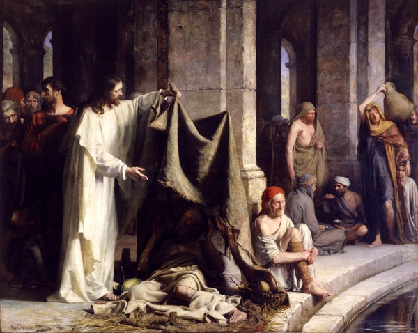 Jesus Healing at Bethesda, Carl BlochImage from Wikimedia Commons