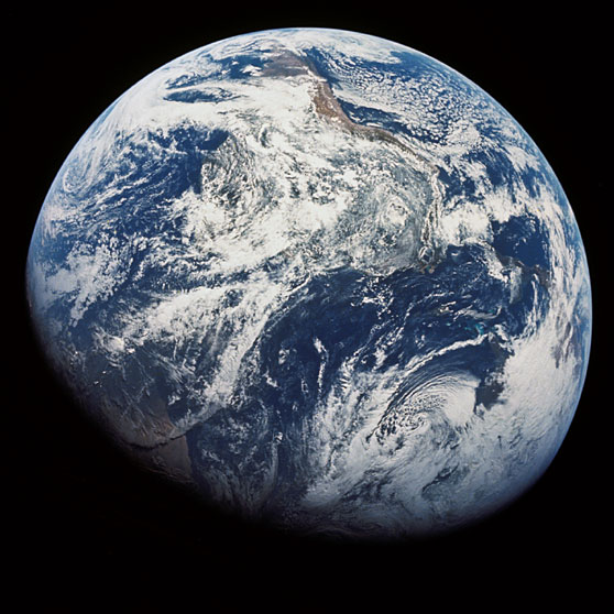 Earth from Space Image from Wikimedia Commons
