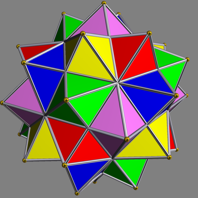 Compound of Five Octahedra Image from Wikimedia Commons
